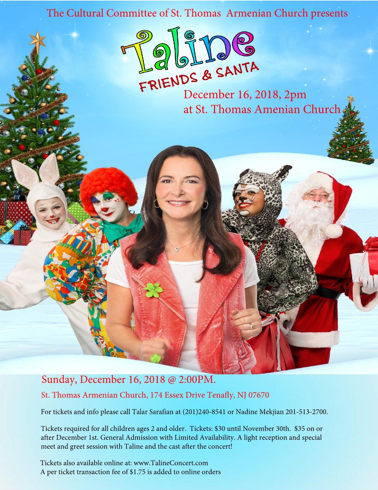 Taline Christmas show flyer 5 small1 - The Armenian Church